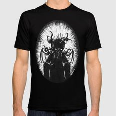 House in R'lyeh, Interior Mens Fitted Tee Black SMALL