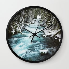 The Wild McKenzie River - Nature Photography Wall Clock