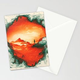 Occupy Mars a Red Sci fy Landscape Stationery Cards