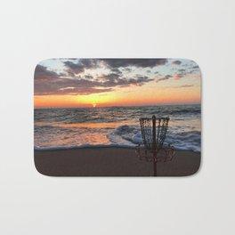 Disc Golf Basket Sunset Virginia Beach Chesapeake Innova Discraft Ocean Waves Bath Mat