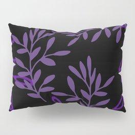 Leafy Purple Pillow Sham