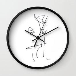 Demeter Moji d25 3-2 w Wall Clock