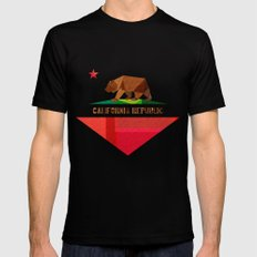 California MEDIUM Black Mens Fitted Tee