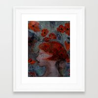 imagerybydianna Framed Art Prints featuring somnia by Imagery by dianna