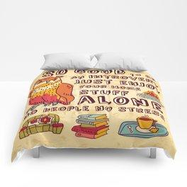 Happy introvert Comforters