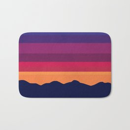 Over The Sunset Mountains Bath Mat