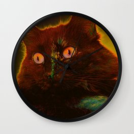 Lily the Forest Cat Wall Clock