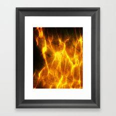 Watery Flames Framed Art Print