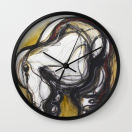 Linear Gesture Wall Clock