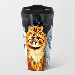 "Louis Wain's Cats ""Five Cats"" Travel Mug"