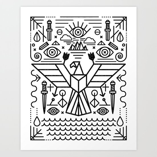Secret Eagle Art Print