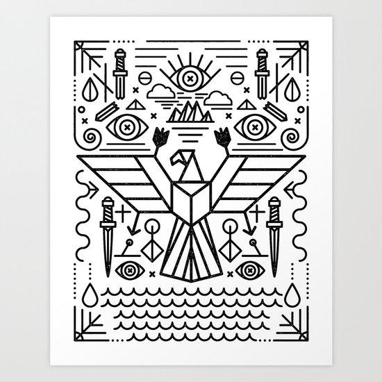 Secret Eagle Art Print