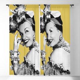 Carmen Miranda Portrait, Black and White Artwork for Wall Art, Prints, Posters, Tshirts, Bags, Men, Blackout Curtain