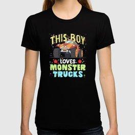 This Boy Loves Monster Trucks Offroad Love T-shirt