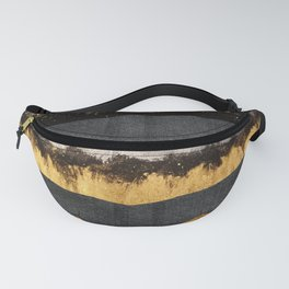 Golden Ocean Waves #1 #abstract #painting #decor #art #society6 Fanny Pack