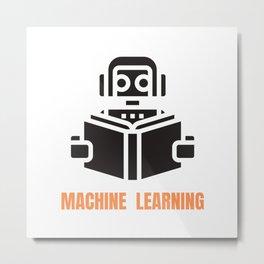 Machine Learning robot Metal Print