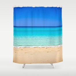 Beach on Crete Shower Curtain