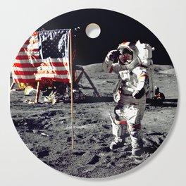 Salute on the Moon Cutting Board