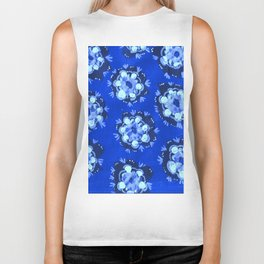 Blue Nevada Rose Biker Tank