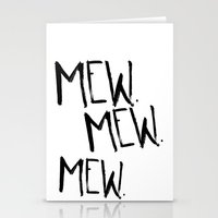 mew Stationery Cards featuring Mew. by Jenna Settle
