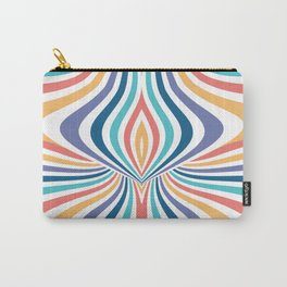 Marbled Rainbow // Abstract Psychedelic Flame Pattern Carry-All Pouch