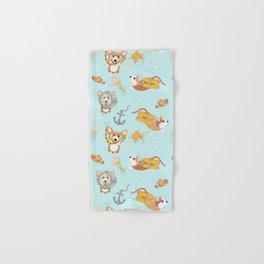 Majesty Pembroke - Happy Diving Corgis Hand & Bath Towel