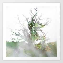Where the sea sings to the trees - 1 Art Print