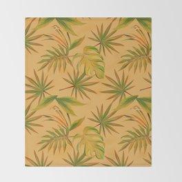 Leave Pattern Throw Blanket