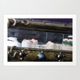 Surrea in her glass casket Art Print