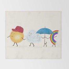 happy days Throw Blanket