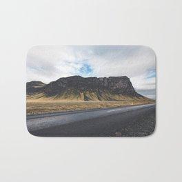 A Mountain on the Left. Iceland Landscape. Roadtrip Travel. Photography. Bath Mat