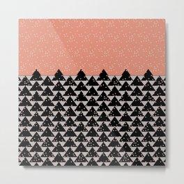 Pixels Christmas  Metal Print