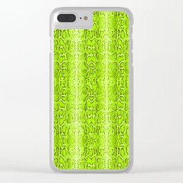 Green Snake Skin Animal print Wild Nature Clear iPhone Case