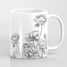 black and white peonies 2 Coffee Mug