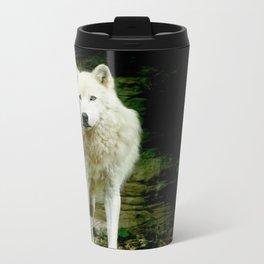 Grey Wolf Metal Travel Mug
