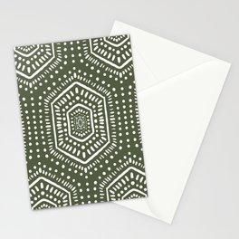 Boho Painted Olive Stationery Cards
