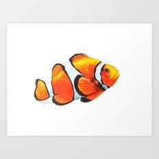 Yupo Clown Fish Art Print