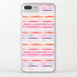 Multi-Colored Tribal Pattern One Clear iPhone Case