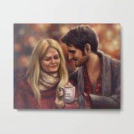 Hot Chocolate In Autumn Metal Print