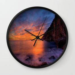 Mala Beach Sunset French Riviera Wall Clock