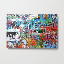 grafitti wall Metal Print