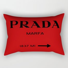 Marfa print in red and black Rectangular Pillow