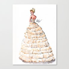 Fashion Watercolor Couture Gown Canvas Print