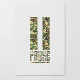 PAUSE – Camo Canvas Print