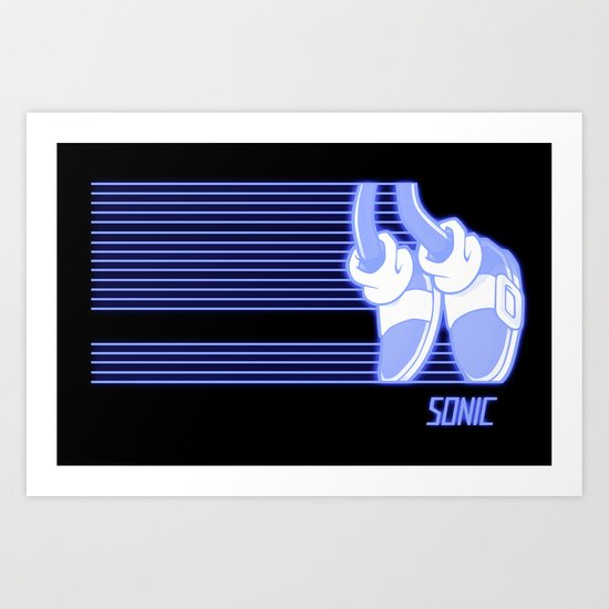 Sonic Moonwalker  Art Print