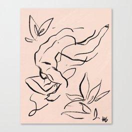 A love like wildflowers Canvas Print