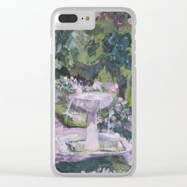 Spring garden, impressionist painting, Sorolla interpretation Clear iPhone Case