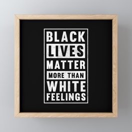 BLM Black Lives Matter Equality Anti Rac Framed Mini Art Print