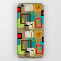 mid century modern iPhone & iPod Skins featuring Mid-Century Modern Inspired Abstract by Kippygirl