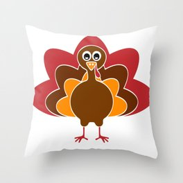 Turkey thanksgiving shirt Throw Pillow